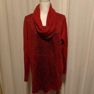 Metallic Detail Pullover Sweater Scarf Set